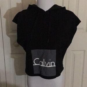 Tops - calvin klein sleeveless hoodie